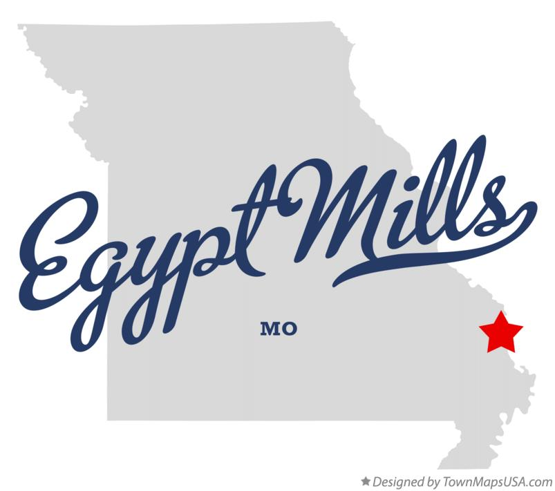 Map of Egypt Mills Missouri MO