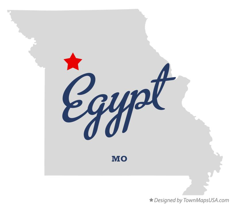 Map of Egypt Missouri MO