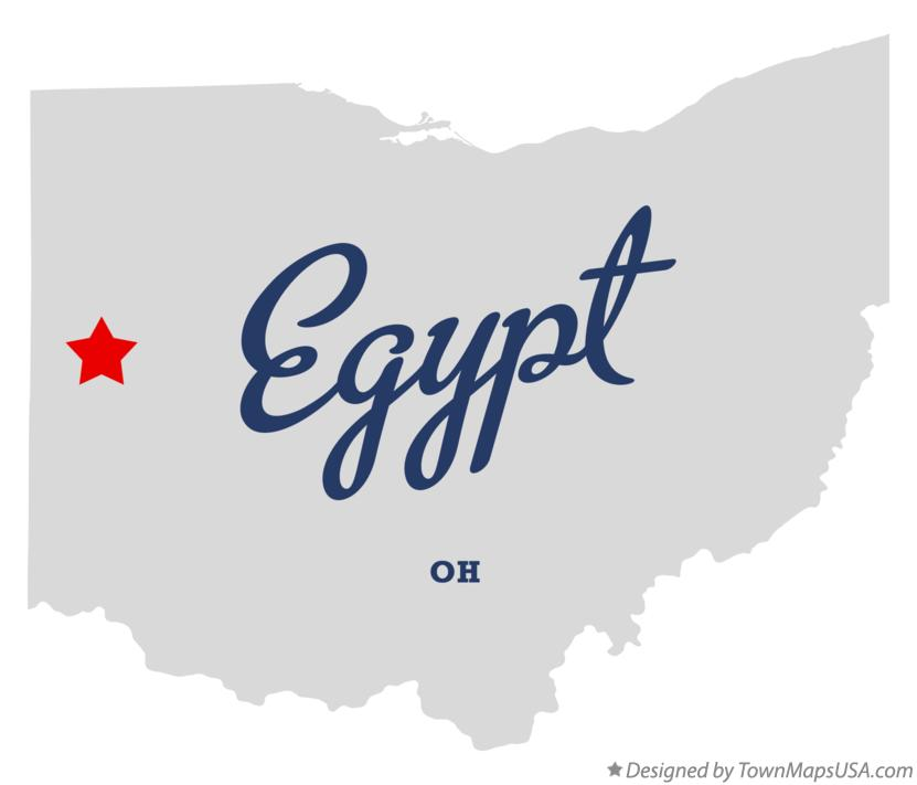 Map of Egypt Ohio OH