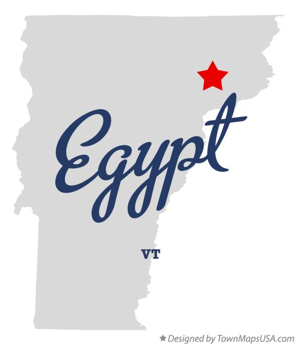 Map of Egypt Vermont VT