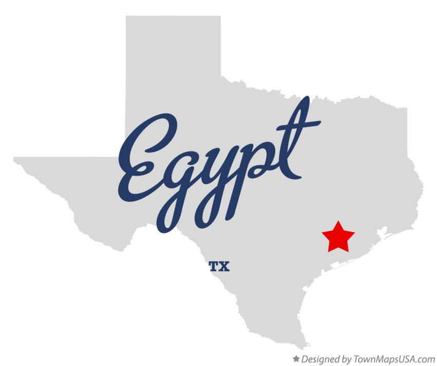 Map of Egypt Texas TX