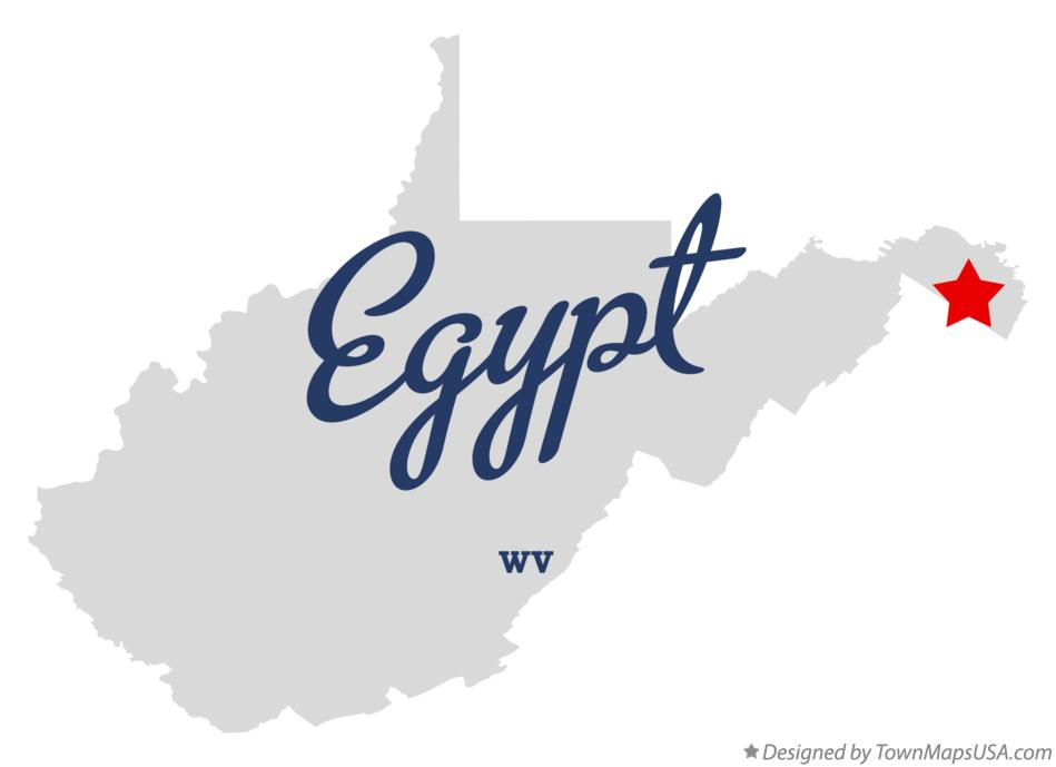 Map of Egypt West Virginia WV