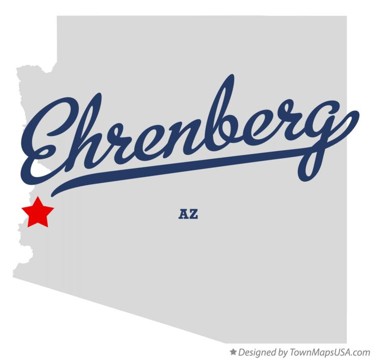 Map of Ehrenberg Arizona AZ
