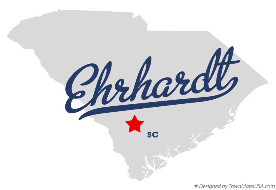 Map of Ehrhardt South Carolina SC