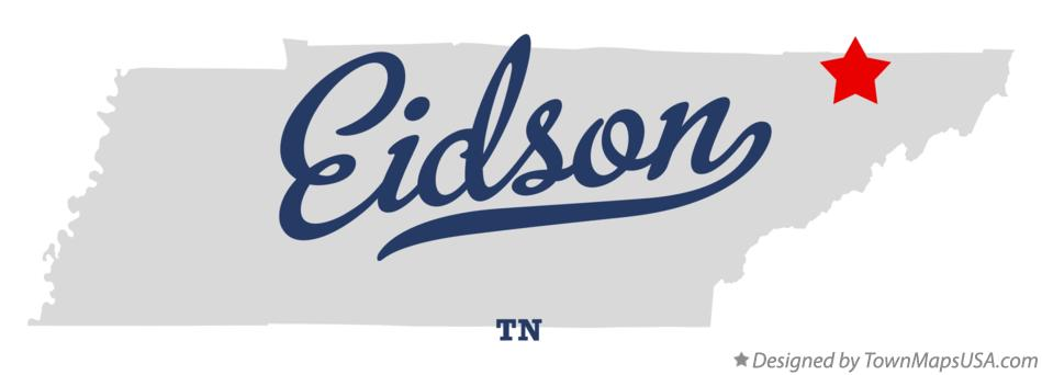 Map of Eidson Tennessee TN