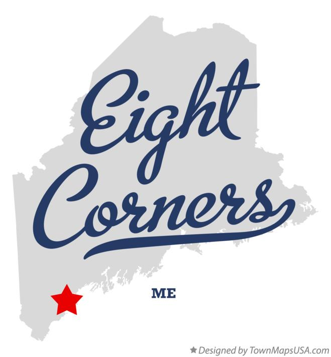 Map of Eight Corners Maine ME