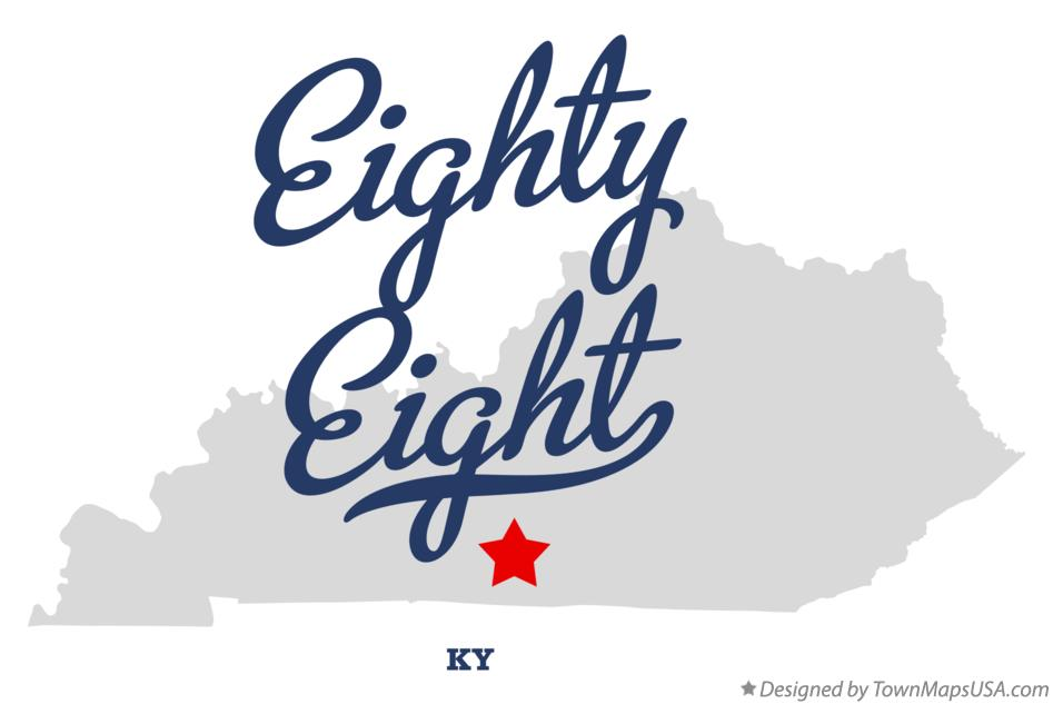 Map of Eighty Eight Kentucky KY