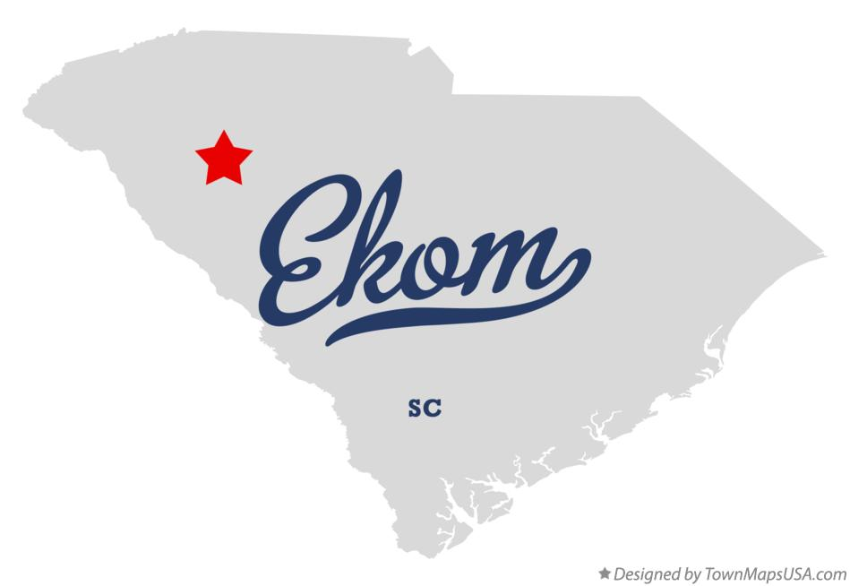 Map of Ekom South Carolina SC