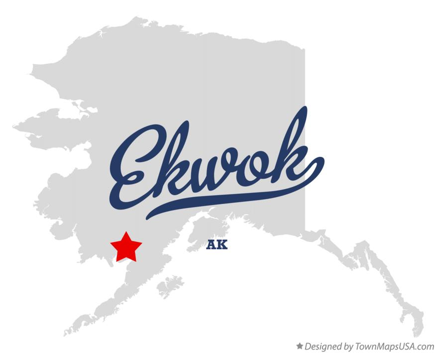 Map of Ekwok Alaska AK