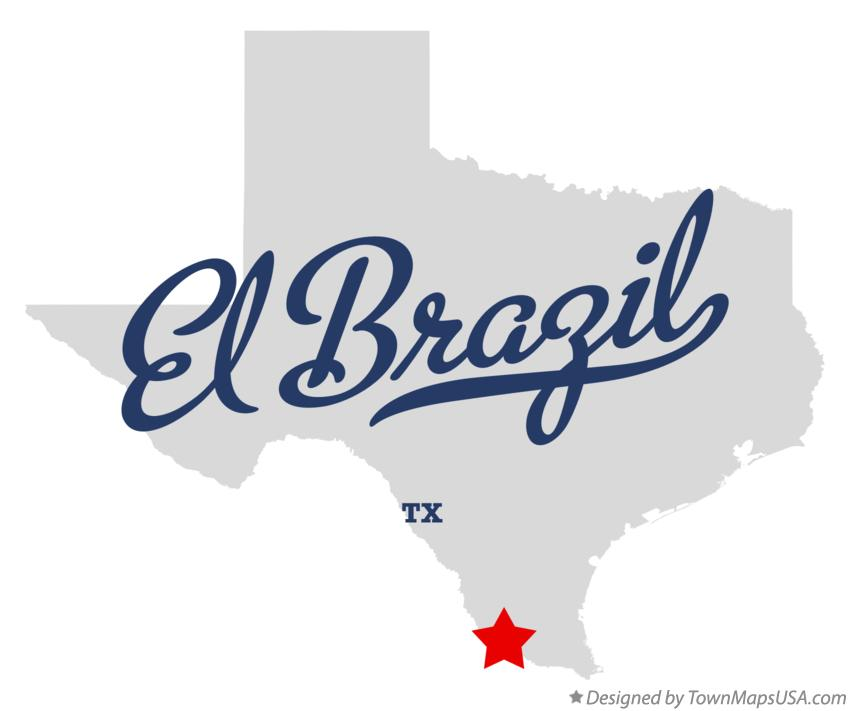Map of El Brazil Texas TX