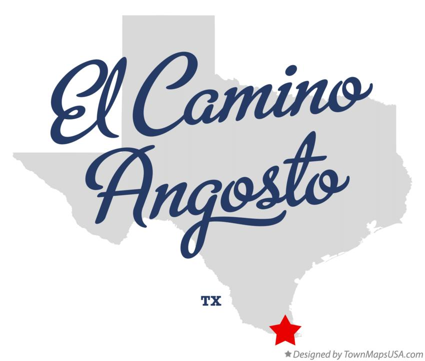 Map of El Camino Angosto Texas TX