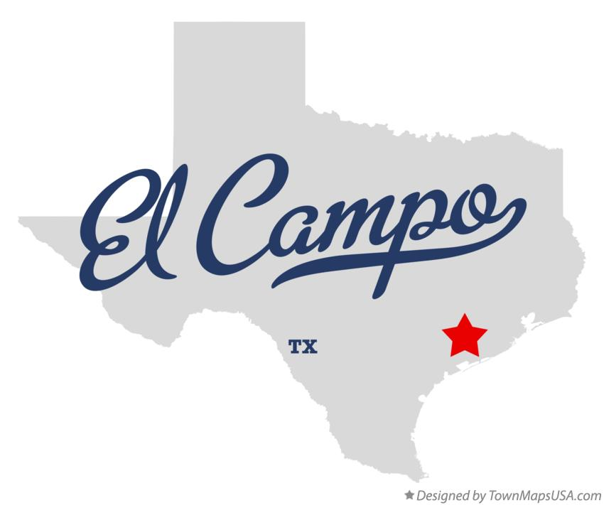 Map of El Campo Texas TX