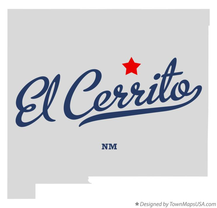 Map of El Cerrito New Mexico NM