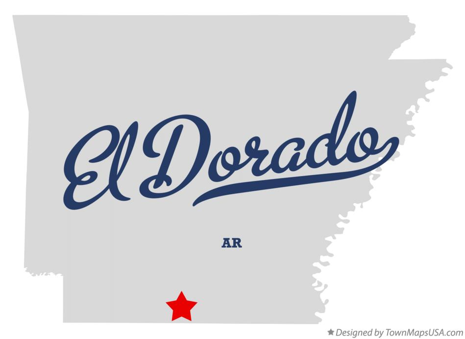 Map of El Dorado Arkansas AR