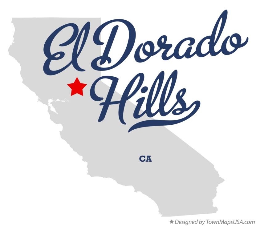 Map of El Dorado Hills California CA
