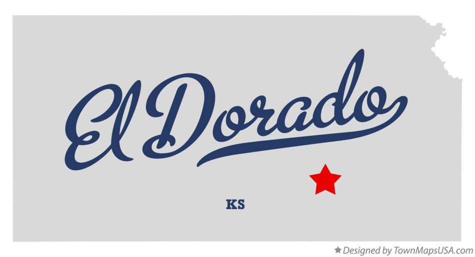 Map of El Dorado Kansas KS