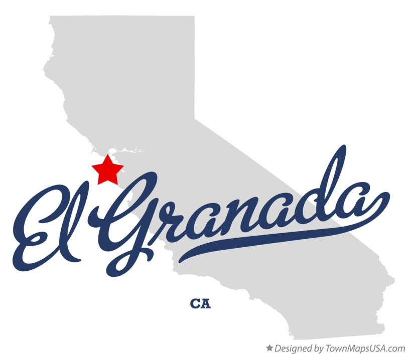 Map of El Granada California CA