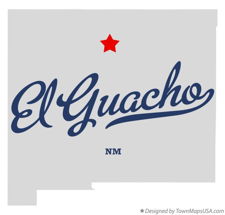 Map of El Guacho New Mexico NM