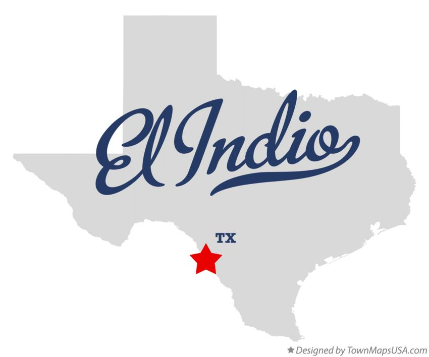 Map of El Indio Texas TX