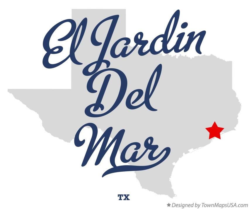 Map of El Jardin Del Mar Texas TX