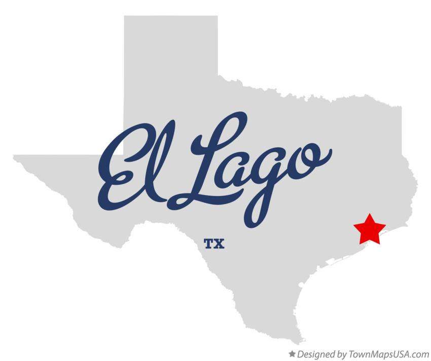 Map of El Lago Texas TX