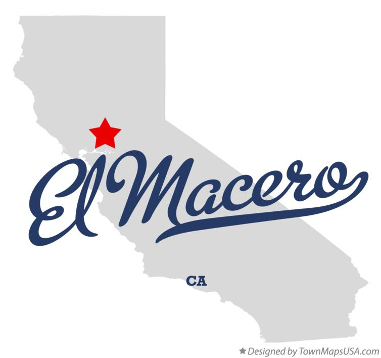 Map of El Macero California CA