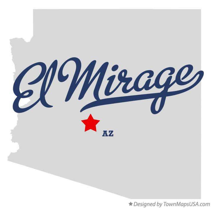 Map of El Mirage Arizona AZ