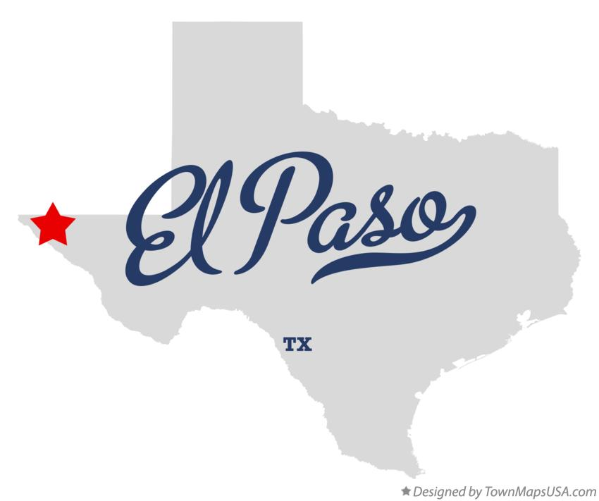 Map of El Paso TX Texas