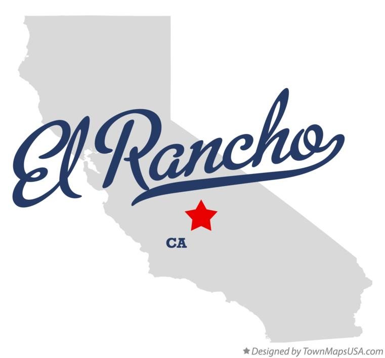 Map of El Rancho California CA