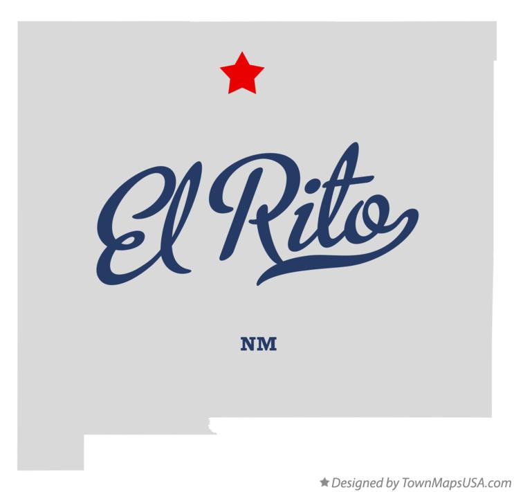 Map of El Rito New Mexico NM