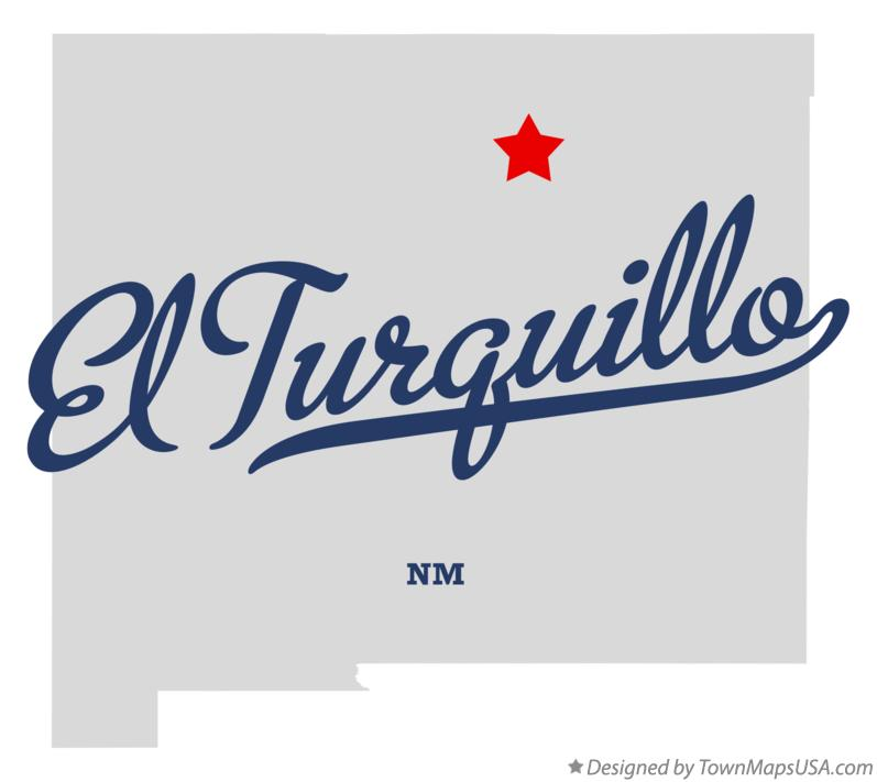 Map of El Turquillo New Mexico NM