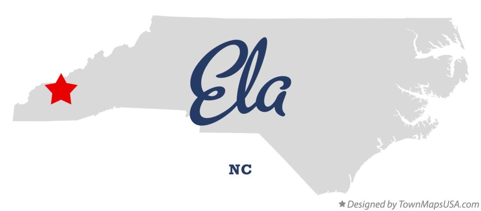 Map of Ela North Carolina NC