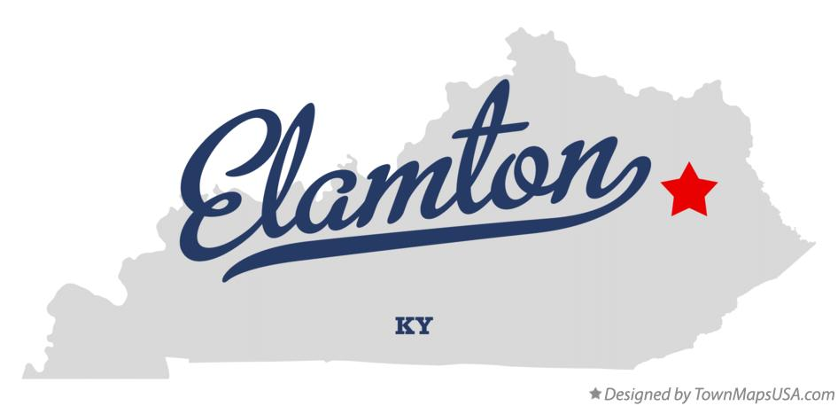 Map of Elamton Kentucky KY