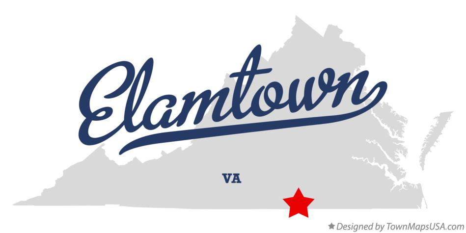 Map of Elamtown Virginia VA
