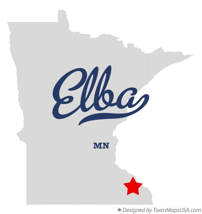 Map of Elba Minnesota MN