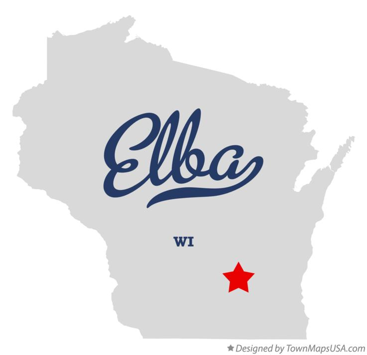 Map of Elba Wisconsin WI