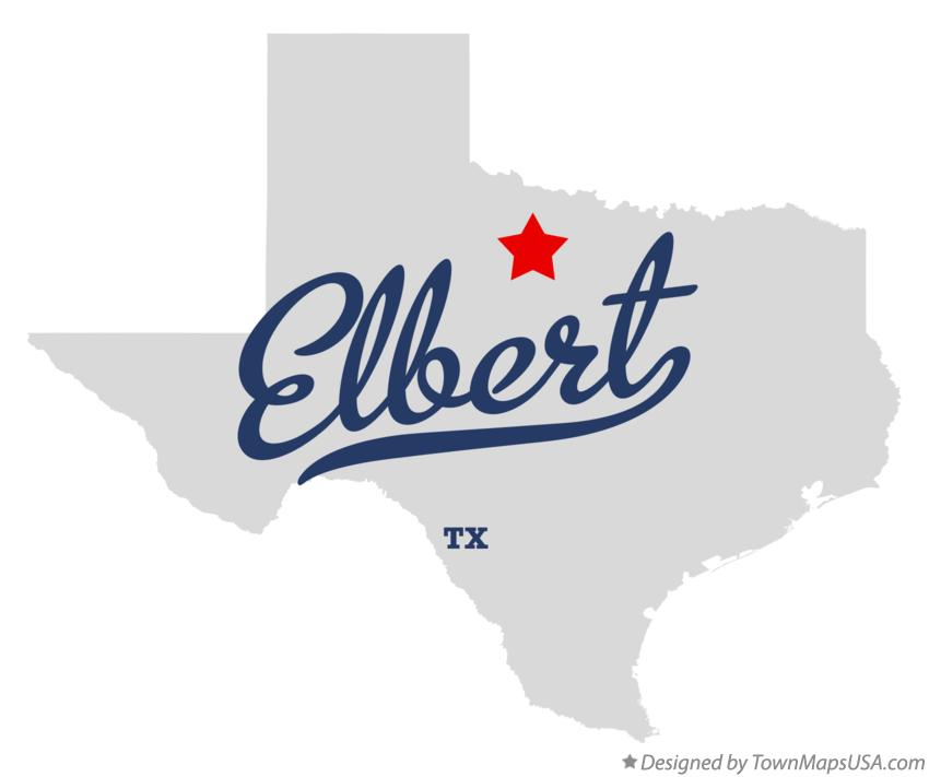 Map of Elbert Texas TX