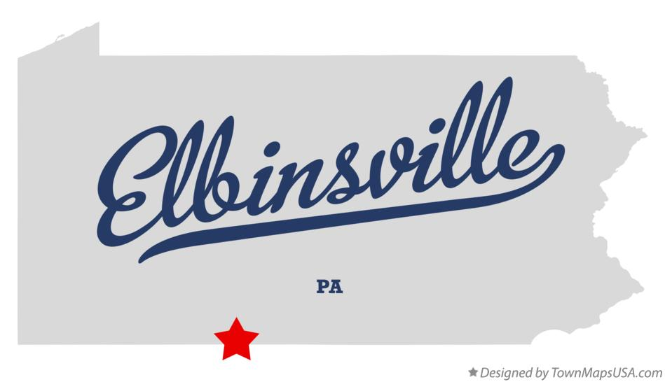 Map of Elbinsville Pennsylvania PA