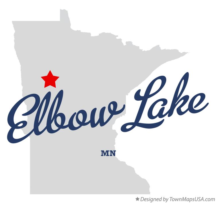 Map of Elbow Lake Minnesota MN