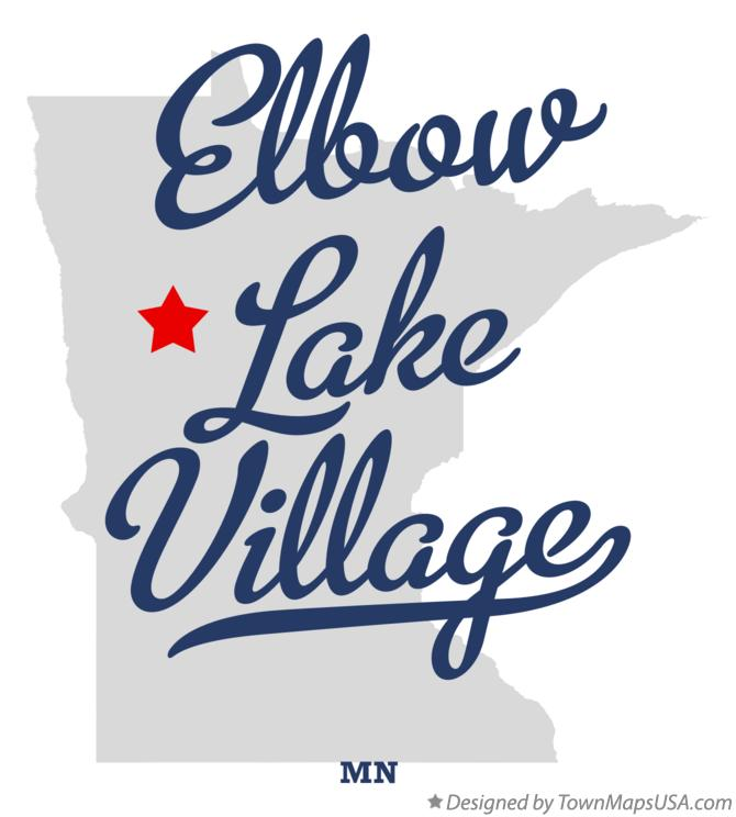 Map of Elbow Lake Village Minnesota MN