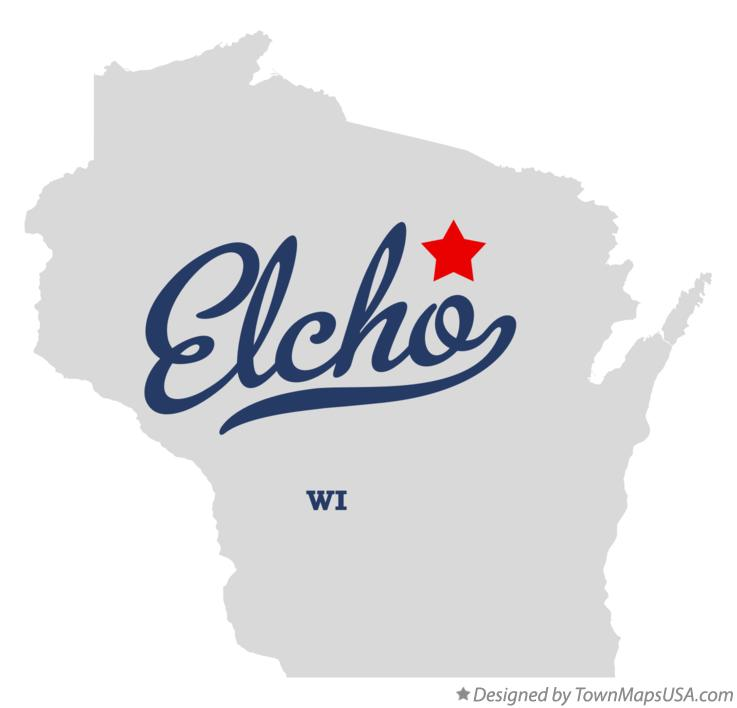 Map of Elcho Wisconsin WI