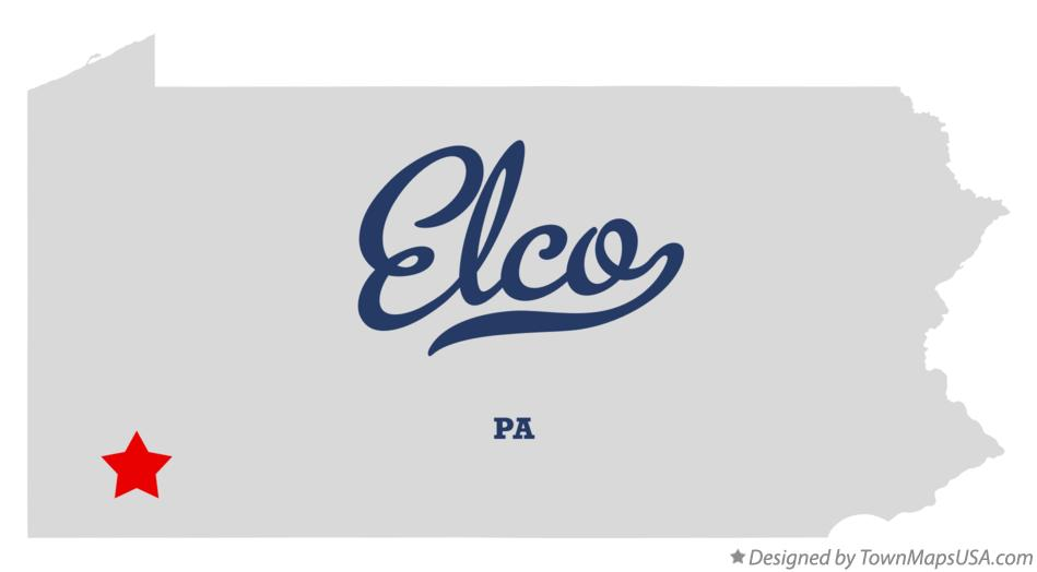 Map of Elco Pennsylvania PA