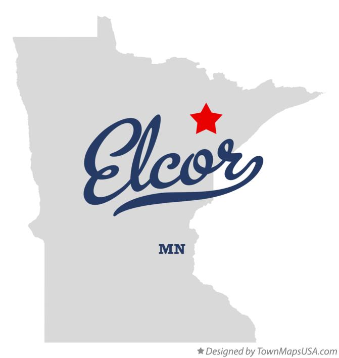 Map of Elcor Minnesota MN