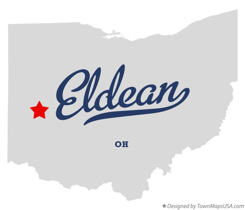 Map of Eldean Ohio OH