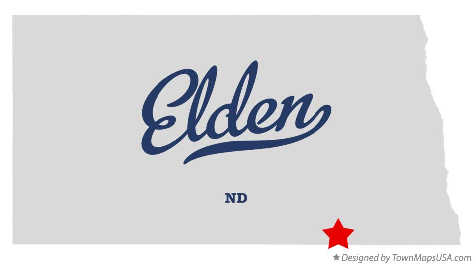 Map of Elden North Dakota ND