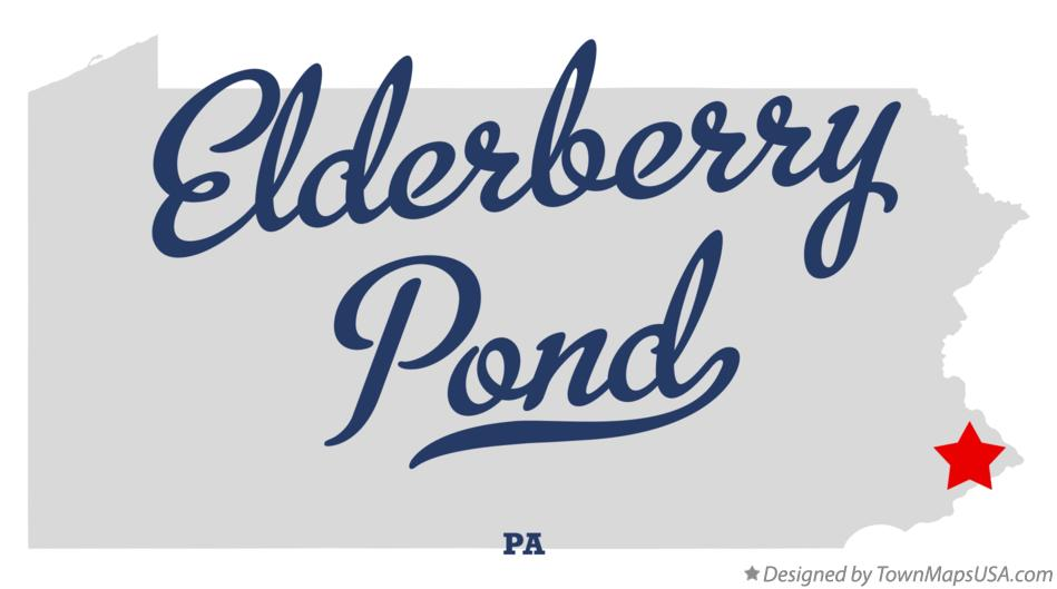 Map of Elderberry Pond Pennsylvania PA