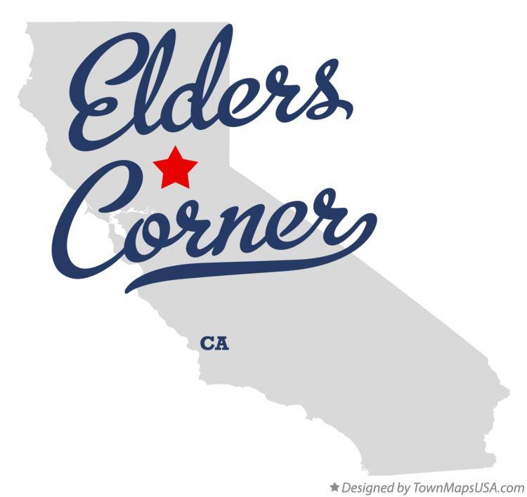 Map of Elders Corner California CA