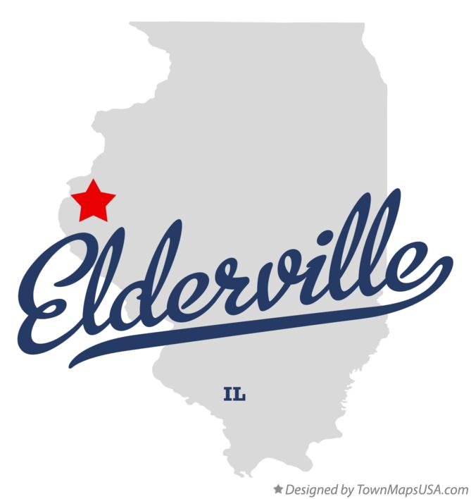 Map of Elderville Illinois IL