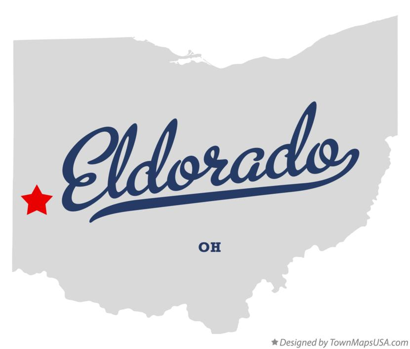 Map of Eldorado Ohio OH