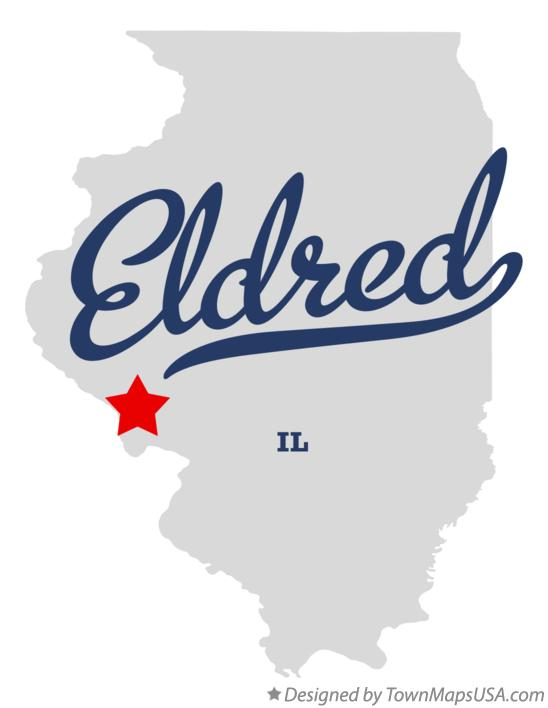 Map of Eldred Illinois IL